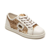 Dolce & Gabbana Gold Sequin Trainer LACE UP TRAINER