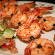 Spicy Lime Prawns Served With Tomato Avocado Salsa