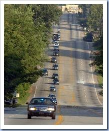Motorcard On Poinsett (Gwinn Davis - Gville News)