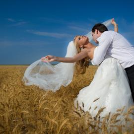 by Alex Jidovu - Wedding Bride & Groom