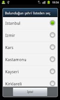 Screenshot of qiblah locator finder