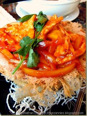 Layang Layang Chicken and Mango in Taro Sarang