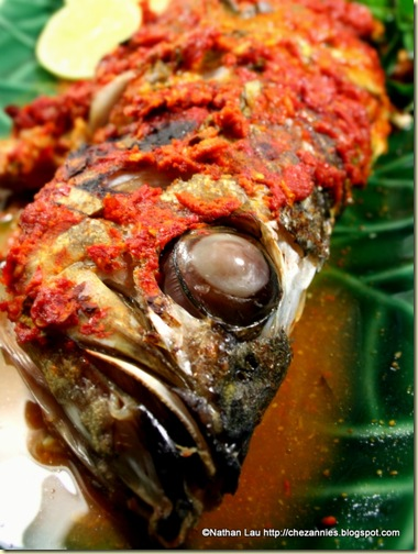 Ikan Pepes - fresh whole snapper with Indonesian spice paste