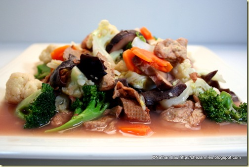 Vegetarian Chap Chye (Stir-fried Mixed Vegetables)