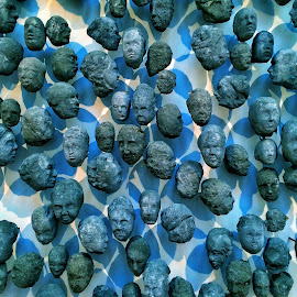 A head in the crowd by Lal Chand - Artistic Objects Other Objects