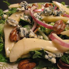 Pear Pecan and Blue Cheese Salad