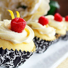 Lemon Cupcakes with Limoncello-Cream Cheese Frosting