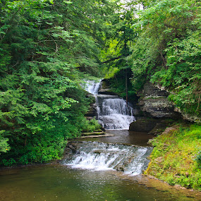 Robert Treman Waterfall by Peter Andrusyszyn - Landscapes Waterscapes ( robert treman state park ny )