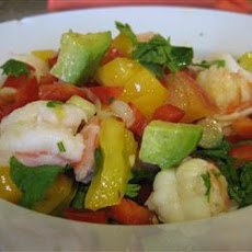 Prawn Salad with Avocado and Lime