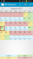 Screenshot of MP Fishing Calendar Pro
