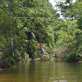 Taking a chance on the zip line. by Terry Linton - Sports & Fitness Other Sports (  )