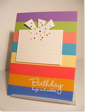 Dana's Striped Card
