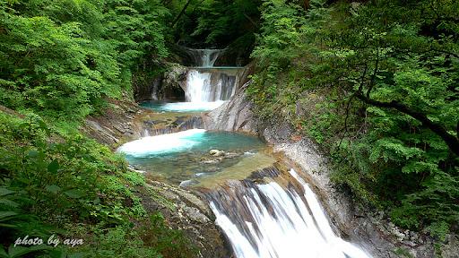 七ツ釜五段の滝2