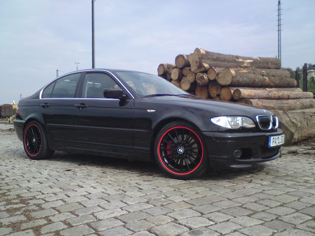 blackdevil im motto schwarz rot 3er bmw e46. Black Bedroom Furniture Sets. Home Design Ideas