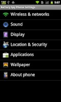Screenshot of Battery Spy