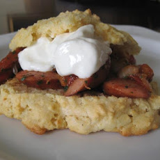 Tomato and Kielbasa Shortcake