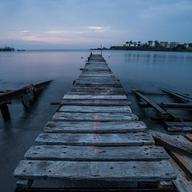 long way to go by Yordan Mihov - Landscapes Travel ( port, ahtopol, burgas, sea, morning, long, black, bulgaria )