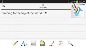 Screenshot of Diary