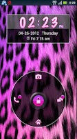 Screenshot of GO Locker Girly Cheetah Theme