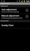 Screenshot of Gravity meter
