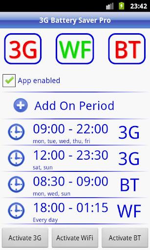 3G Battery Saver Pro + WiFi BT