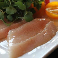 New Style Hamachi Sashimi with Curry Oil