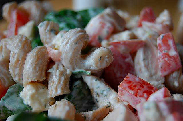 Savory Spicy Sweet: Chicken-Gorgonzola Pasta Salad