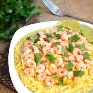 Creamy Curry Pasta With Shrimp