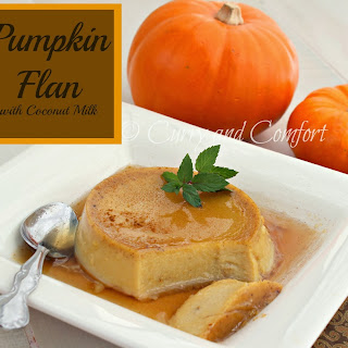 Pumpkin Flan with Maple Syrup
