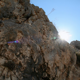 Glimpse. by Matthew Gibney - Nature Up Close Rock & Stone ( europe, mediterranean, greece, sunshine, rock, boulder )