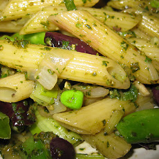 Pasta, Pesto and Peas