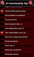 Screenshot of A1 Relationship Tips
