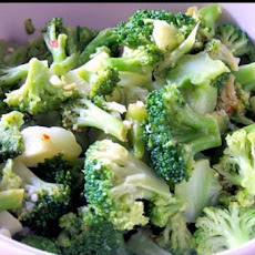 Microwave Lemon Garlic Broccoli