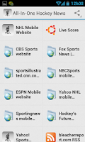 Screenshot of Hockey News and Scores