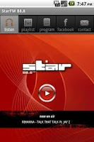 Screenshot of StarFM 88.8