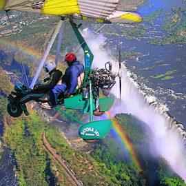 Flying over Victoria falls..Zambia by Mel Dicker - Transportation Other