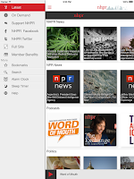 Screenshot of NHPR Radio