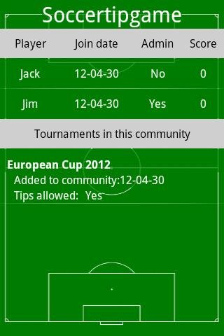 Soccer Tip Game