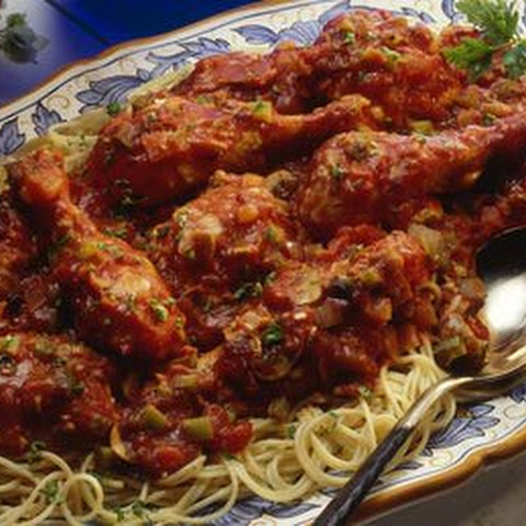 Easy Chicken Cacciatore Recipe with Stewed Tomatoes