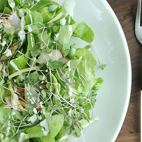 Spring Salad with Clean Eating Buttermilk Dressing