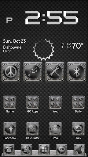 Screwed Steel Launcher Theme