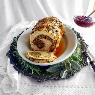 Pressure Cooked Stuffed Turkey Breast Rolle'