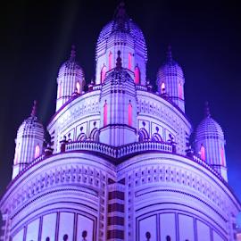 Kali Temple, Kolkata by Anindya Bhattacharjee - Buildings & Architecture Statues & Monuments ( kolkata, kali temple, dakshineswar kali temple, dakshineswar )