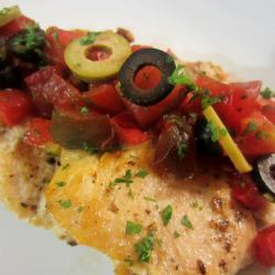 Olive And Tomato Turkey Breast Medallions