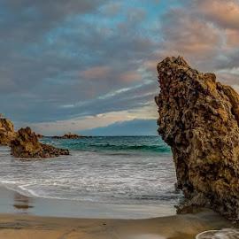 Dramatic by Edmund Fellinger - Landscapes Beaches ( #california, #corona del mar state, #sea, #beach, #dramatic )