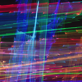 Colored web decay ! by Jim Barton - Abstract Patterns ( laser light, light design, laser design, laser, web, colored, laser light show, light, science, decay, colored web decay )