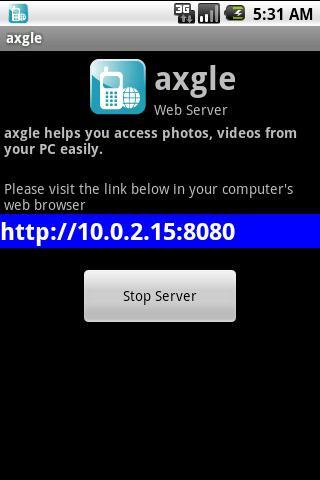 axgle web server