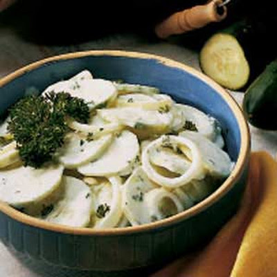 Cucumbers in Cream