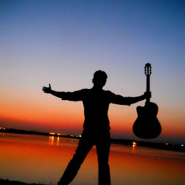 The world is,,,,,,, haha.... really mine,,,, by Deep Kathikar - People Musicians & Entertainers (  )
