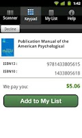 Screenshot of Cash4Books® Sell Textbooks